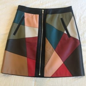 BCBG pleather skirt